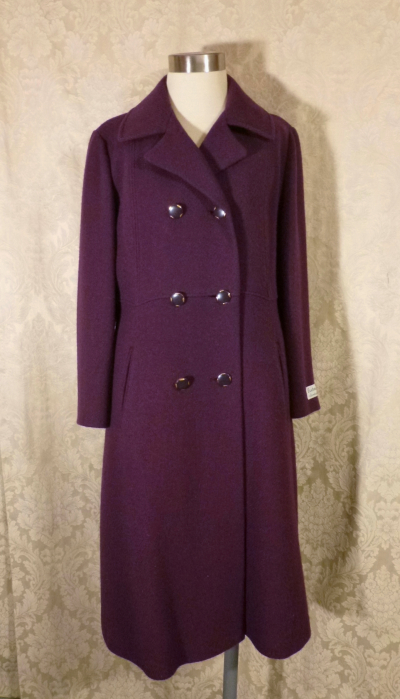 Vintage 1980's Plum Purple Wool Coat by Bromleigh (1)