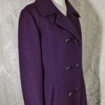 Vintage 1980's Plum Purple Wool Coat by Bromleigh (2)