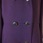 Vintage 1980's Plum Purple Wool Coat by Bromleigh (3)