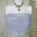 1950s vintage party cocktail prom dress violet lilac lavender blue  tulle bows embroidery starlite imports  (9)