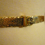 Vintage Whiting & Davis Western Style Gold Snake Scale Mesh Belt (2)