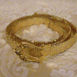 Vintage Whiting & Davis Western Style Gold Snake Scale Mesh Belt (4)