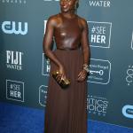 Lupita Nyong'o Michael Kors gold belt 25th Annual Critics' Choice Awards 2020