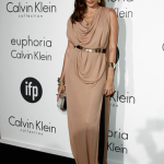 Astrid Munoz Calvin Klein gold belt 65th Cannes Film Festival at Villa St George on May 17  2012 in Cannes  France.