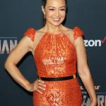 Ming-Na Wen gold belt premiere Disney's The Mandalorian