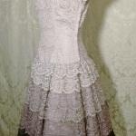 Vintage 1950s lace blush lilac plum eggplant brown ombre dress by Deja Paris New York label  (9)