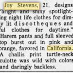 Joy stevens california advertisement
