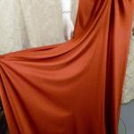 1970s vintage joy stevens california halter jersey dress gown rust brown backless  (9)